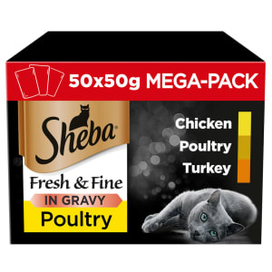 Sheba Mini Cat Adult Wet Food Pouches - Poultry Collection in Gravy