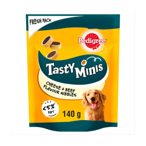 Pedigree Tasty Minis Adult Dog Treats - Cheese & Beef
