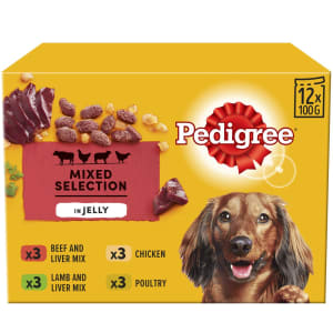 Pedigree Senior Wet Dog Food Pouches - Meat Selection in Jelly