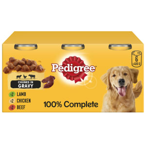 Pedigree Adult Wet Dog Food Tins - Mixed Meat Selection in Gravy