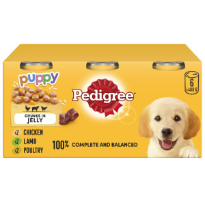 Pedigree Puppy Wet Dog Food Tins - Mixed Selection in Jelly