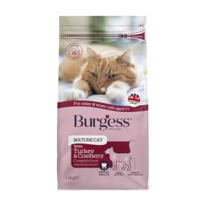 Burgess Complete Mature Dry Cat Food - Turkey & Cranberry