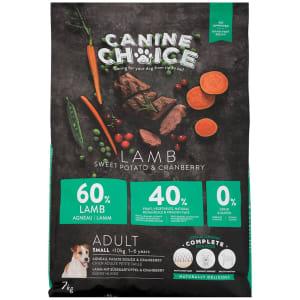 Canine Choice Grain Free Small Adult Dry Dog Food – Lamb