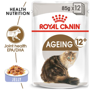 Royal Canin Ageing 12+ Senior Wet Cat Food in Jelly