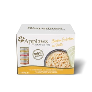 Applaws Adult Wet Cat Food Tin - Chicken Selection Multipack