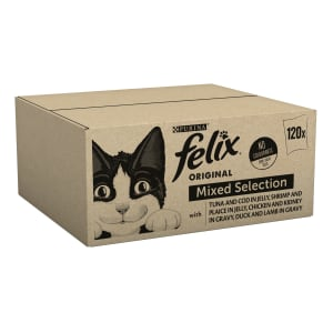 Felix Adult Wet Cat Food Pouch - Mixed Selection Meat & Fish in Jelly