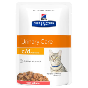 Hill's Prescription Diet Urinary Care c/d Multicare Wet Cat Food in Gravy - Salmon