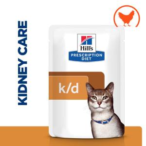 Hill's Prescription Diet Kidney Care k/d Wet Cat Food in Gravy - Chicken