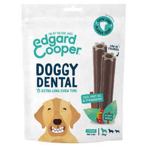 Edgard & Cooper Strawberry & Mint Large Doggy Dental Treat