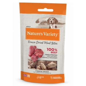 Nature's Variety Freeze Dried Meat Bites Adult Dog Treats - Beef
