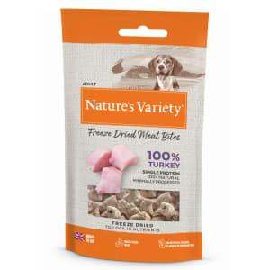 Nature's Variety Freeze Dried Meat Bites Adult Dog Treats - Turkey
