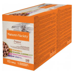 Nature's Variety Original Adult Wet Cat Food Pouches - Multipack