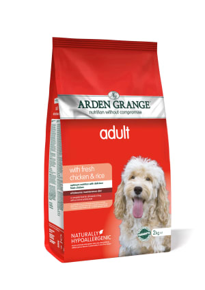 Arden Grange hond adult kip & rijst