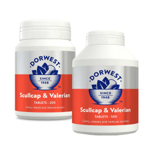 Dorwest Scullcap & Valerian Tablets for Dog & Cat