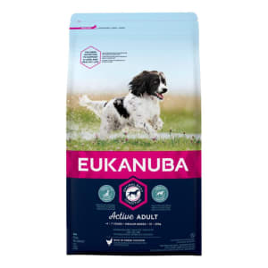 Eukanuba Active Adult Medium Breed Adult Dry Dog Food - Chicken