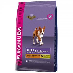 Eukanuba Growing Puppy Medium Breed Dry Dog Food - Chicken