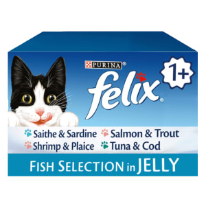 Felix Adult Cat Food Pouch Fish Selection -Gelee