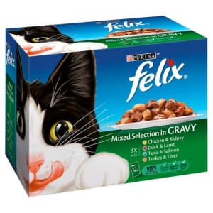 Felix Adult Cat Food Pouches 100G X 48 Jumbo Pack