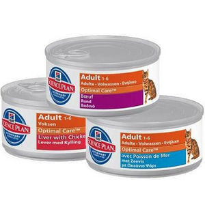 Hills Adult Optimal Care (Blikjes) voor katten