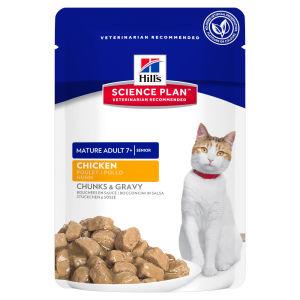 Hills Mature 7+ Active Longevity Tender Chunks (Kip) voor katten