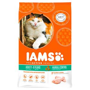 IAMS Adult – Hairball Control Huhn für Katzen