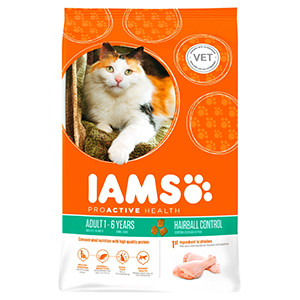 IAMS Adult Hairball - Poulet
