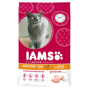 Iams ProActive Health Senior & Mature Chicken (Kip) voor katten