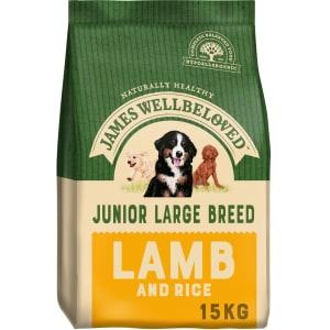 James Wellbeloved Large Junior Dry Dog Food - Lamb & Rice