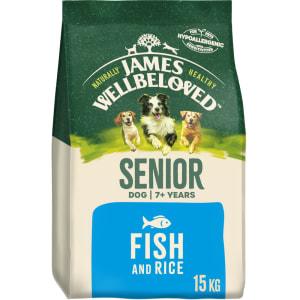 James Wellbeloved Senior Adult Dry Dog Food - Fish & Rice