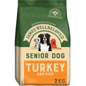 James Wellbeloved Large and Medium Senior Adult Dry Dog Food - Turkey & Rice