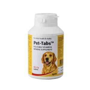 Pet Tabs met o.a. taurine, eiwitten en vitaminen