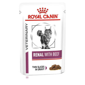Royal Canin Veterinary Diet Renal Adult Wet Cat Food - Beef