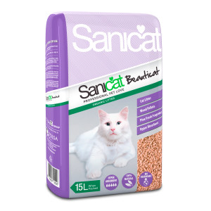 Sanicat Beauticat Wood Pellets Cat Litte