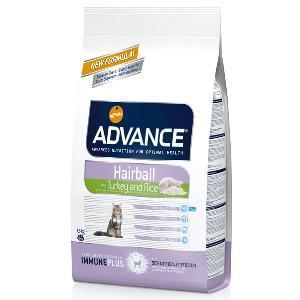 Advance Hairball Katzenfutter mit Truthahn & Reis