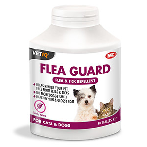 Mark & Chappell VetIQ Flea Guard Tablets for Cat & Dogs