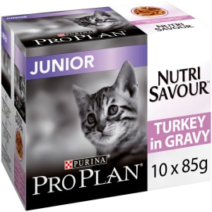 Purina Pro Plan NutriSavour Junior Adult Wet Cat Food - Turkey