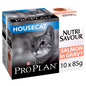 Purina Pro Plan NutriSavour Housecat Adult Wet Cat Food - Salmon in Gravy
