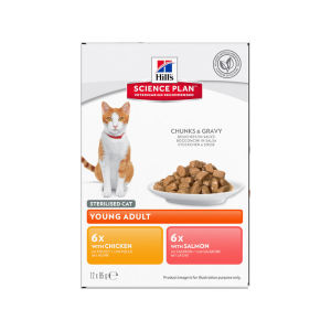 Hill's Science Plan Young Adult Sterilised Cat Food Pouches