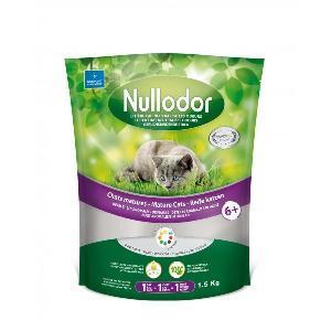 Nullodor Katzenstreu mit Gesundheitsanzeige für Katzensenioren