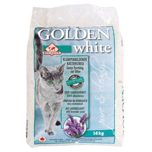 Litière Golden White pour chat avec parfum de lavande