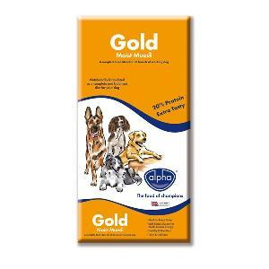 Alpha Adult Dog Food Gold Moist Muesli