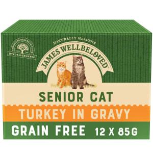 James Wellbeloved Grain Free Senior Cat Turkey Pouch