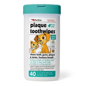 Petkin Zahnreinigungstücher für Hunde und Katzen