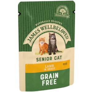 James Wellbeloved Grain Free Senior Cat Lamb Pouch