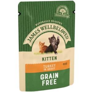 James Wellbeloved Grain Free Kitten Turkey Pouch