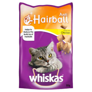 Whiskas Anti Hairball Cat Treats with Chicken