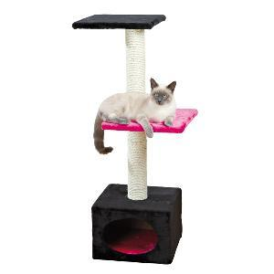 Trixie Scratching Post Badalona Black/Fuchsia