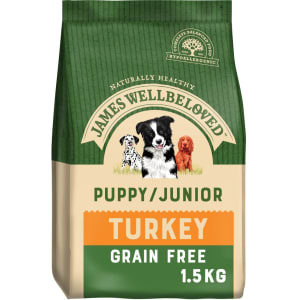James Wellbeloved Puppy/Junior Grain Free Turkey & Vegetable