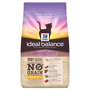 Croquettes Hill's Ideal Balance sans céréales pour chats matures