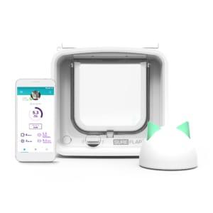 Chatière à micropuce électronique SureFlap Connect avec Hub